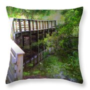 Crossing Over I Throw Pillow