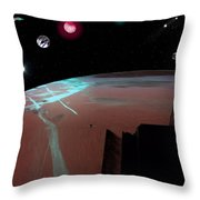 Crossing Over Planet Sky Throw Pillow