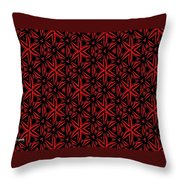 Crossing The Line Abstract  Throw Pillow