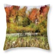Crossing The Marsh Throw Pillow