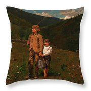 Crossing The Pasture Throw Pillow