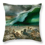 Crossing The Red Sea Throw Pillow by Anonymous