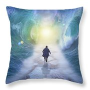 Crossing The Red Sea  Throw Pillow
