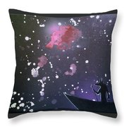 Crossing The River Styx Throw Pillow