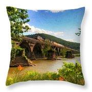 Crossing The Susquehanna Throw Pillow