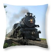 Crossing The Trestle Throw Pillow