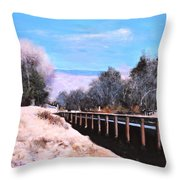 Crossing The Wash Throw Pillow