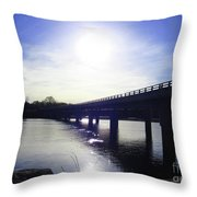 Crossing The Wisconsin River Throw Pillow