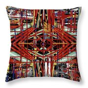 Crossing To Eye V 3 Throw Pillow