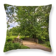 Crossing Toms Creek Throw Pillow