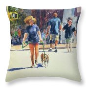 Crossing West 79th Throw Pillow