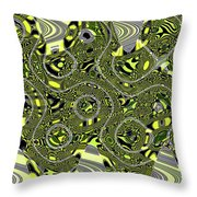Crossing White Lines Abstract Throw Pillow