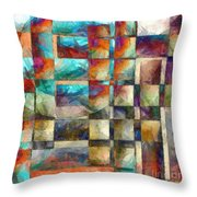 Crossover Abstract Pencil Throw Pillow