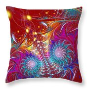 Crossroads Of The Worlds Throw Pillow