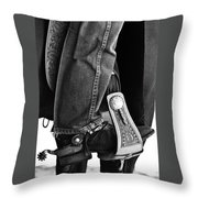 Cross's Spurs II Throw Pillow