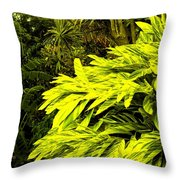Croton Cascading Down The Hillside Throw Pillow
