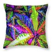 Croton Foliage Throw Pillow