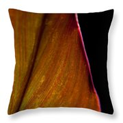 Croton Leaf Throw Pillow