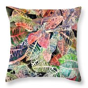 Croton Tropical Art Print Throw Pillow