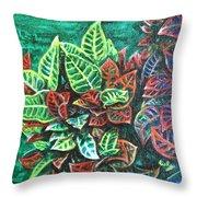 Crotons 3 Throw Pillow