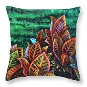 Crotons 4 Throw Pillow