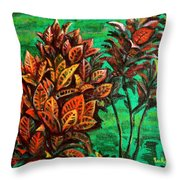Crotons 5 Throw Pillow