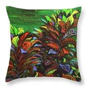Crotons 6 Throw Pillow