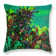 Crotons 7 Throw Pillow