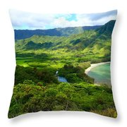 Crouching Lion Trail Throw Pillow