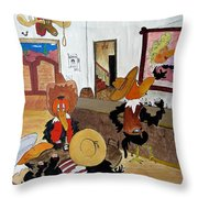 Crow  - Bar Throw Pillow