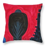 Crow Original Painting Throw Pillow