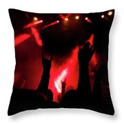 Crowd At A Rock Concert Throw Pillow