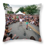 Crowd At Bele Chere Festival Throw Pillow
