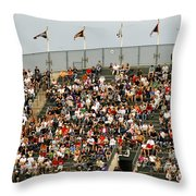Crowd At Coors Field Throw Pillow