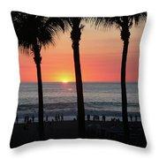 Crowd At Sunset Throw Pillow