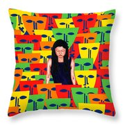 Crowd Throw Pillow