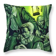 Crowded Conditions On The Mayflower Throw Pillow