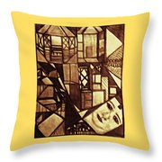 Crowded Neighborhood Abstract Throw Pillow