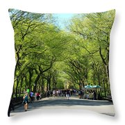 Crowded Spring Morning Throw Pillow