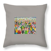 Crowds Throw Pillow