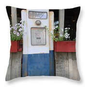 Crown Blue Throw Pillow