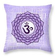Crown Chakra - Awareness Throw Pillow