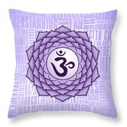 Crown Chakra - Awareness Throw Pillow by David Weingaertner