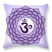Crown Chakra Throw Pillow