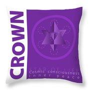 Crown Chakra Series Three Throw Pillow