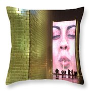 Crown Fountain At Millennium Park Throw Pillow