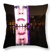 Crown Fountain Reflections Throw Pillow