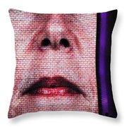 Crown Fountain Silhouettes Throw Pillow