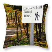 Crown Hill Road 1885 Throw Pillow