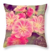 Crown Of Beauty Throw Pillow